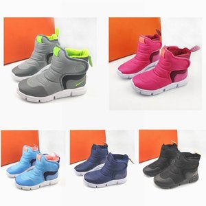 быстрый корабль 5 цветов зимой в моде летать Ребенок крыла дизайнеров снега сапоги детям Sneaker