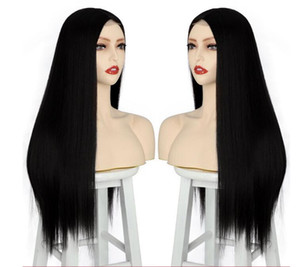 Free Shipping Europe and the United States women hair bud silk chemical fiber ms before long straight hair hair wigs factory direct sale