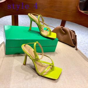2021 Mode Damen Sommer Hohe Qualität Outdoor Casual High Heel Sandalen Luxus Damenschuhe Klassische Frauen Spitze High Heel Casual Schuhe