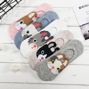 Designer Pairs lot Cute Harajuku Animal Socks Women Summer Korean Cat Bear Rabbit Funny Low Cut Ankle Sock Happy Sox