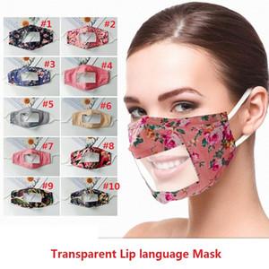 Surdos-mudos lábio Máscara Catering Cotton pode ver através Dustproof Impresso Mask surdos-mudos respirável de protecção T3I51209