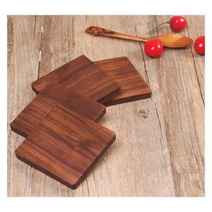 Wooden Coasters Black Walnut Cup Mat Bowl Pad Coffee Tea Cup Mats Dinner Plates Kitchen jllfuC bdebag