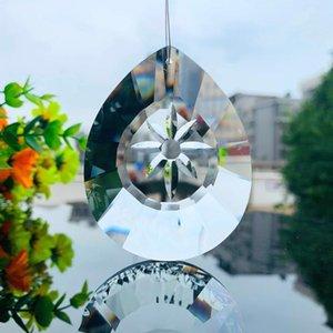 76 mm Claro Daisy Cristales Prismas Colgando SunCatcher Vidrio Drop Pendant Chandelier Adorno Cristal Chrismas Home Wedding Decor H BBYMUJ