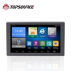 Accesorios de GPS de automóviles TOPSOURCE Android 9 pulgadas Navegación de camiones 16GB DVR grabadora de video Tablet AV-in Soporte Cámara de inversión con mapas gratuitos