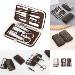 Fai1P Tools Tchippers de manucure Nail Career en acier inoxydable avec remaniement de l'étui Pédicure Nail Set Professional Fashion Nettoyage Clipper File