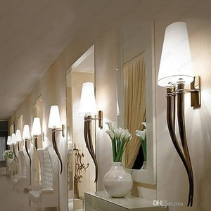 Modern Lustres LED Wall Light Horns Wall Lamp Shade Bedroom Bedside E27 Luminaire Wall Sconce Light fixtures avize Free shipping