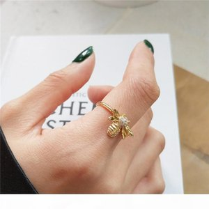RUIYI Real 925 Sterling Silver Women Fashion Personalized Cute Bee Niche Rings Girls Delicate Birthday Gifts Jewelry Chic Rings