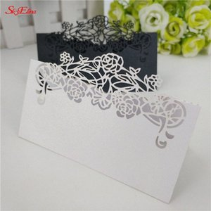 düğün kartları hediye kartları 10pcs Misafir tablo Adı Yer kartı Davet Düğün dantel Lazer Kesim 6zSH872 hmJj #