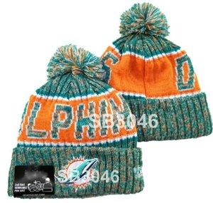 Горячая полосатая сторона MIA Design Miami Beanie Sport Knit Hat шерсть капота теплые шапочки хип-хоп вязаный череп шапка для мужчин женщин A7