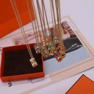 Fashion Street Pendant Necklaces Hot Sale Necklace for Man Woman Necklaces Jewelry Pendant Highly Quality 9 Color with BOX