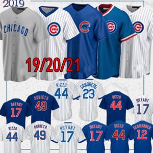 Chicago Özel Cubs 9 Javier Baez Jersey Kris Bryant Formalar Anthony Rizzo Jersey Ryne Sandberg Kyle Schwarber Yu Derviş Beyzbol Formalar
