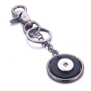 Vintage Leather Snap Button Keychain Keychains Keyrings Fit Diy 18mm Snap Buttons Jewelry Unisex Lanyard Christmas Gift Q jllWjx