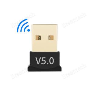 Bluetooth 5.0 USB Adaptador Transmisor Receptor inalámbrico Audio Dongle Remitente para computadora PC portátil portátil Conexión inalámbrica Ratón BT V5.0 Dongle