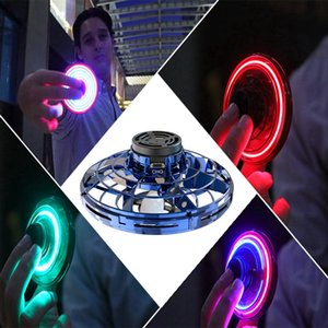 LED Fingertip Gyro Decompression Lighting Pull Back Flight Gyro Flexible Kids Adult Stress Reliever Toy USB Charging Gift HHA1011
