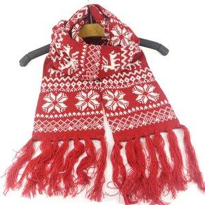 2020 hiver chauds tassels écharpe enfants christmas de noël flocon imprimé écharpes enfants jacquard weave foulard