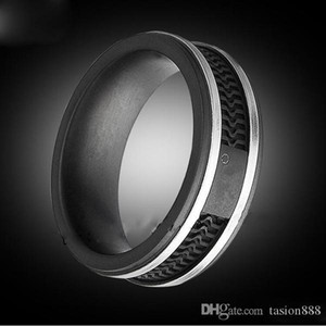 Fashion Black color rings, Women   Mens Titanium stainless steel Big size Jewelry--- Size 6 to 12