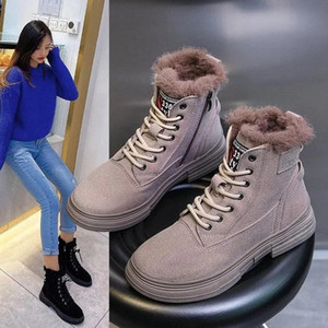 Women's Winter Snow Boots New Fashion Style High-top Shoes Casual Womans Waterproof Warm Female High Quality Ankle Boots #dw1T