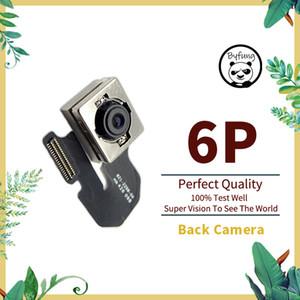 100% original iphone 6 mais 6Plus câmera traseira grande com cabo de módulo flash cabo flexível, para iphone 6 Voltar câmera peças sobresselentes substituição