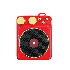 Classic Wireless Bluetooth Speaker T10 Mini Retro Record Player Stereo Music Sound Box FM Radio For Xiaomi iPhone computer