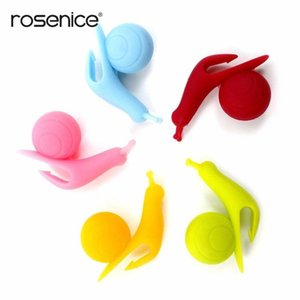 Snail Reuseable Mug Infuser Shape Silicone Tea 5pcs Cute Cup Holder Leaf Bag Rosenice bbyoFr yh_pack