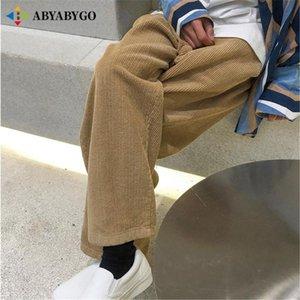 Men's Pants Casual Mens Sweatpants Autumn Winter Corduroy Trousers Harajuku Streetwear Male Joggers Baggy Japanese Tracksuit