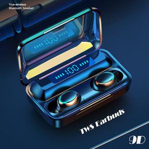 Oringinal 2000mah F9 5.0 TWS Bluetooth Earphone Fingerprint Touch Headset HiFI Stereo In-ear Wireless Earbuds Headphones ap3 for iphone11 12