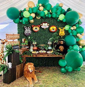 106pcs Animal Balloons Garland Kit Jungle Safari Theme Party Supplies Favors Kids Boys Birthday Party Baby Shower Decorations