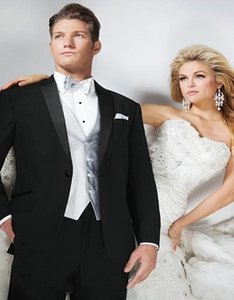 Men's Suits & Blazers 2021 Black Arrival Stylish Prom Single Breasted Shawl Lapels Tuxedo Man Bridegroom Business (Jacket+Vest+Pants)