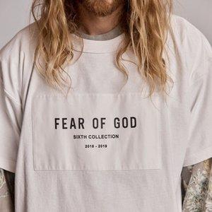 FOG timore di Dio 6 Collection TEE Hip Hop Semplice via Skateboard T-shirt Estate Uomo Donna Casual Fashion maniche corte Tee HFYMTX506