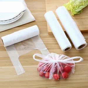 Зажимный 100шт / рулон Одноразовой жилет дизайна хранения Seal Bag Saver Саран Wrap Пластиковые пакеты Главной Кухня Организация SSTP #