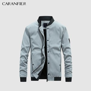 CARANFIER Men Jackets Autumn Coat Thin Jacket Light Casual Bomber High Quality Army Motorcycle Business Slim Fit Windbreaker 201023
