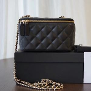 2021 Ultimo Style Small Cosmetic Bag 1473 Pelle di agnello morbido e confortevole sensazione in vera pelle semplice e facile moda AtmosphereBags