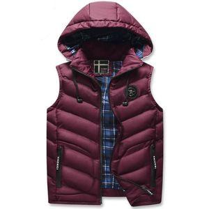 2021 chaud, épais hiver de gilets sans manches, vestes pour hommes dans un hotel chaud, gilet en cuir chaud, veste et veste. D35Y