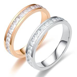 우아한 전체 손가락 사랑 결혼 약혼 지르콘 반지에 대한 JIOROMY 광장 CZ 스테인레스 스틸 반지 여성 쥬얼리 남성