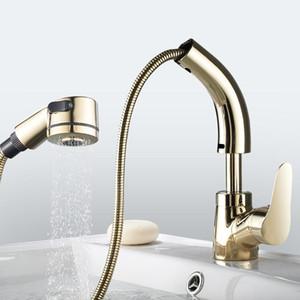 Estrarre il rubinetto della lavandino caldo e freddo del rubinetto Bagno della lavandino della lavandana della lavandana della casa della famiglia Bagno del rubinetto della cucina