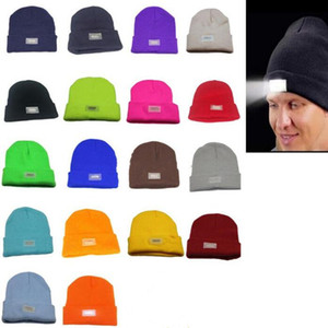 5 lumières LED Chapeau d'hiver Beanies Mains chaudes Pêche Chasse Caps Courir Camping 14 couleurs Dhl gratuit DWA2183