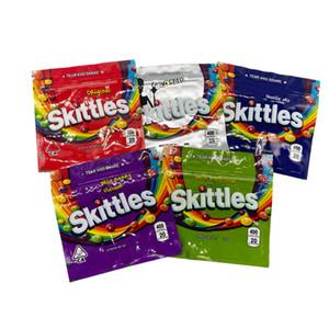 تصميمات جديدة مبيعات ساخنة في أمريكا Skittles Mylar حقيبة التعبئة والتغليف مع 5 تصاميم في الأوراق المالية والسوسة الأعلى