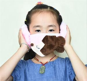 Los niños invierno cálido Estudiante bordado Fox Impreso mascarilla de la historieta encantadora de los niños de la cara cubiertas de protección auditiva del Boca-mufla Máscara E102302