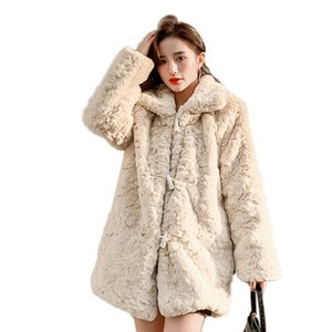 Luxury Faux Fur Coat For Women Winter Thicken Warm Fashion Artificial Wool Ladies Casual Hairy Jacket 201016