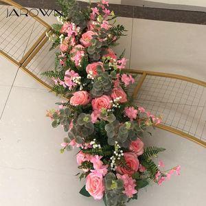 JAROWN Wedding Props Pre-function Area 100cm Flower Row Road Lead Party Arrangement Scene DIY Silk Flowers Floral Decor