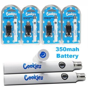 Cookies 510 Thread Battery USB Charger Vape Pen Blister Kits Packaging 350mAh Preheat Vaporizer Battery Variable Voltage Cartridge Batteries
