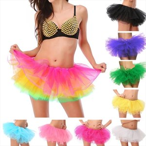 Adult Female Tutu Skirt 5 Layered Tutu Mini Ball Gown Skirt Women Ladys Tulle Princess Party Skirts Sexy Club Short Pettiskirt
