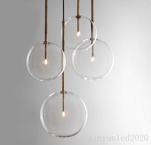 Nordic Klarglas Pendelleuchten Globus Chromglas Kugel Pendelleuchte Esszimmer Küche Hängelampe Home Decor Light Fixture
