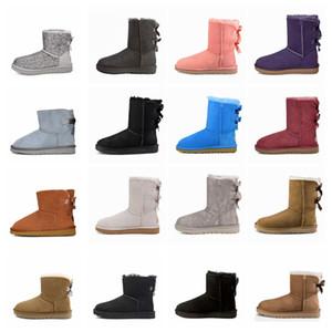 2020 Hotsale Boots Kinder Australien Klassische Winter Schneeschuhe Mädchen Bowtie Fashion Knöchel Plus Baumwolle Warm Größe