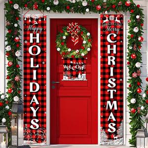 Weihnachten Couplet Flags Banner Wand Anhänger Tür hängend Couplets Weihnachtsfest Bedarf Outdoor-Garten-Party-Dekoration