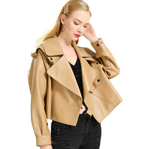 Genuine Leather Jacket women real sheepshin leather coat spring new fashion real leather jacket 201019