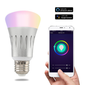 New E27 7W WiFi LED Light Bulb Dimmer Smart illumination Color Changing Dimmable Wifi Remote Control Light Bulb Works With Alexa