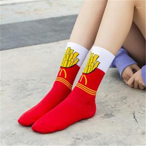 Colorblock Tide Socks Summer College Style Avocado Fries Eggs Print Sock Designer Winter Harajuku Female Socks Women
