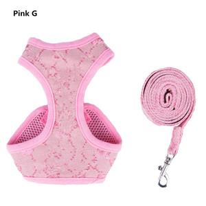 Симпатичные розовые девушки жгуты собаки свинцовые поводки 2 шт. Устанавливает короткие ноги собаки воротник воротник