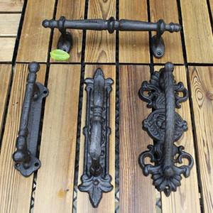 European Retro Garden Courtyard Cast Iron Craft Door Handles Home Decoration Wall Decoration Door Handle Room Accessories